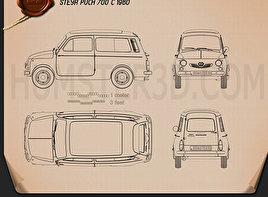 Puch 700 C 1961 Blueprint