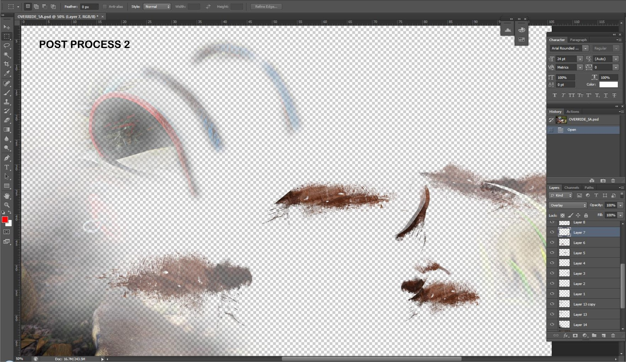 my individual layer and masking of different texture