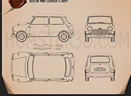 Austin Mini Cooper S 1964 Blueprint