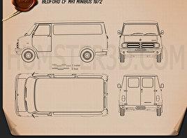 Bedford CF Minibus 1969-1979 Blueprint