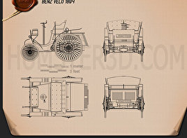 Benz Velo 1894 Blueprint