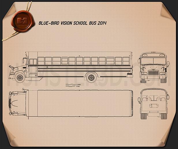 Blue Bird Vision School Bus 2014 Blueprint