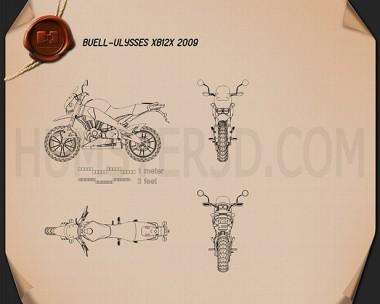 Buell Ulysses XB12X Sport Bike Blueprint