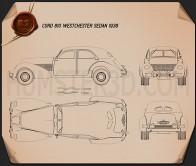 Cord 810 Westchester sedan 1936 Blueprint