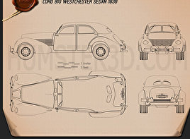Cord 810 Westchester sedan 1936 Blueprint