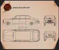 Daimler DS420 1987 Blueprint