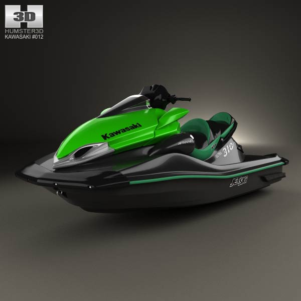 3D model of Kawasaki Ultra 310LX 2014