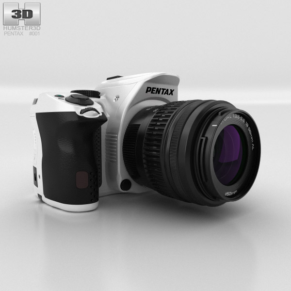 3D model of Pentax K-30 White