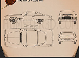 Dual-Ghia L6.4 coupe 1960 Blueprint
