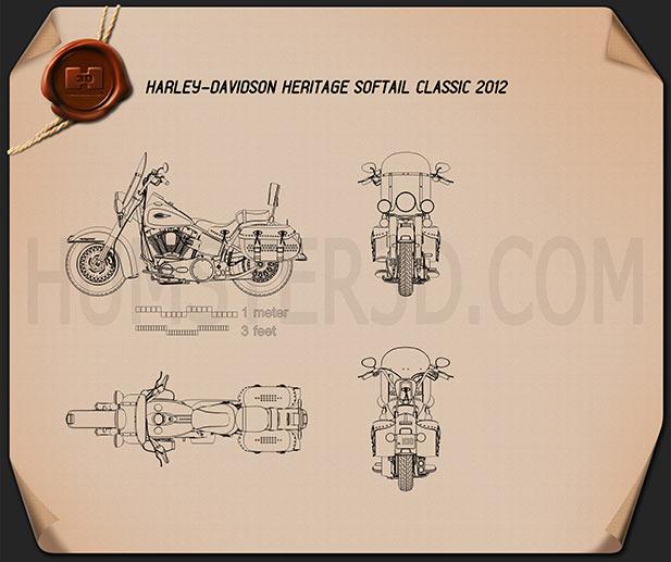 Harley-Davidson Heritage Softail Classic 2012 Blueprint