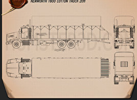 Kenworth T800 Cotton Truck 2011 Blueprint