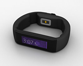 3D model of Microsoft Band Black