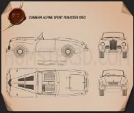 Sunbeam Alpine 1953 Blueprint