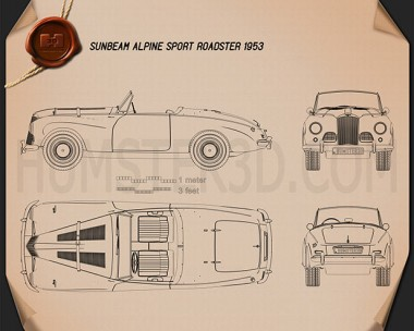 Sunbeam Alpine 1953 Blueprint