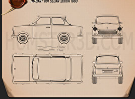 Trabant 601 Sedan 1963 Blueprint