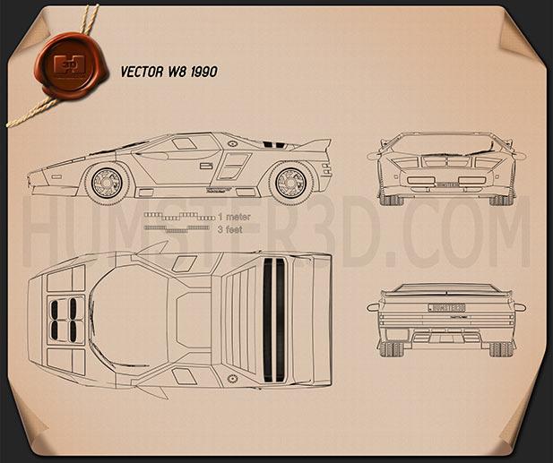 Vector W8 1990 Blueprint