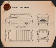 Bedford CA Panel Van 1965 Blueprint