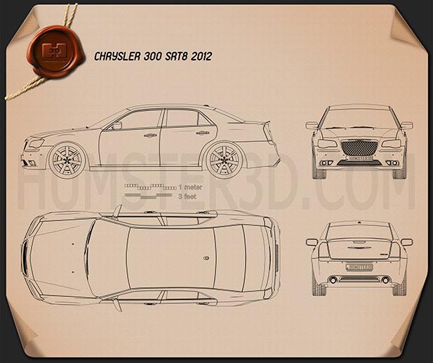 Chrysler 300 SRT8 2012 Blueprint