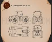 Claas Xerion 5000 Trac VC 2014 Blueprint 3d model