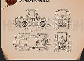 Claas Xerion 5000 Trac VC 2014 Blueprint