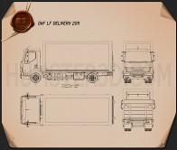 DAF LF Delivery Truck 2011 Blueprint