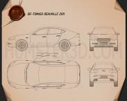 De Tomaso Deauville 2011 Blueprint 3d model