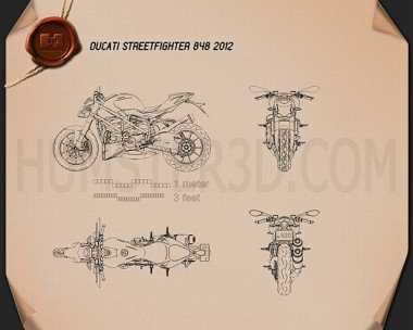 Ducati Streetfighter 848 2012 Blueprint