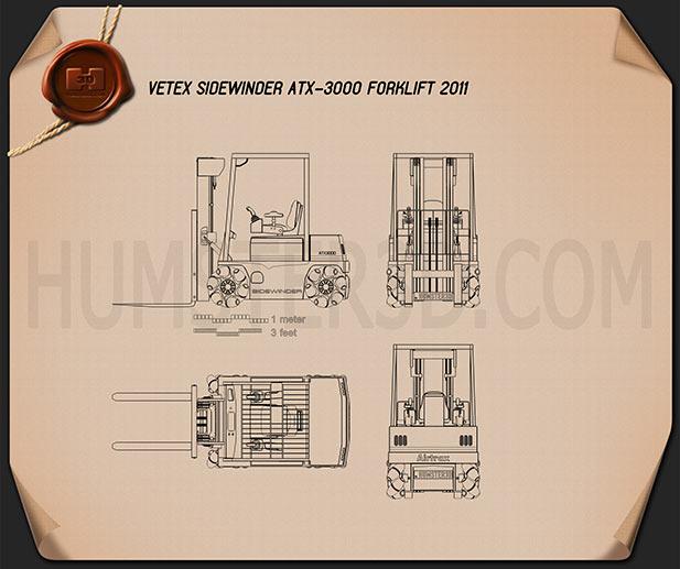 Vetex Sidewinder ATX 3000 Forklift 2011 Blueprint