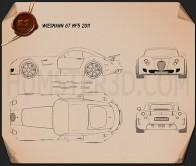 Wiesmann GT MF5 2011 Blueprint
