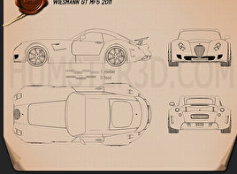 Wiesmann GT MF5 2011 Blueprint
