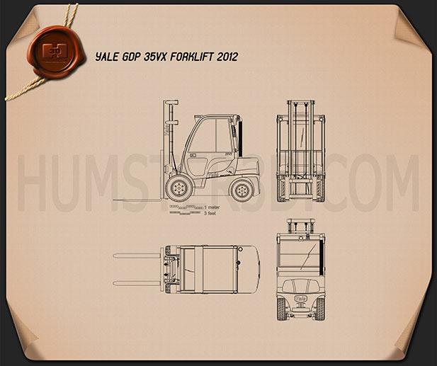 Yale GDP 35VX Forklift 2012 Blueprint