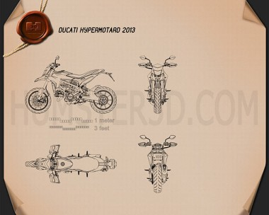 Ducati Hypermotard 2013 Blueprint
