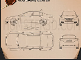 Holden Commodore VE Sedan 2012 Blueprint