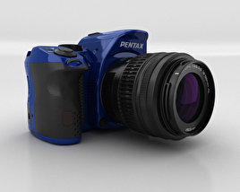 3D model of Pentax K-30 Blue