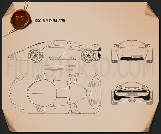 SSC Tuatara 2011 Blueprint