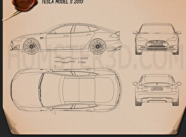 Electric Car Blueprint Download Hum3d