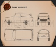 Trabant 601 Kombi 1965 Blueprint