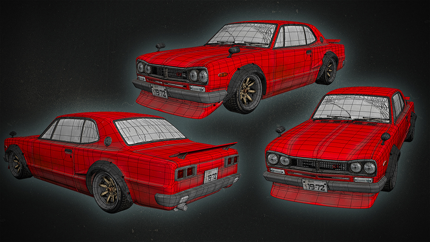 Modeling of Nissan Skyline-72