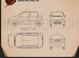 Daewoo Matiz M150 2011 Blueprint