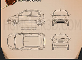 Daewoo Matiz M250 2011 Blueprint