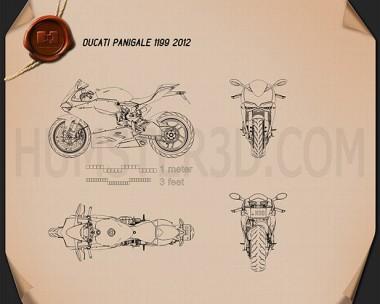 Ducati 1199 Panigale 2012 Blueprint