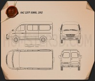 GAZ Sobol (GAZelle) 2012 Blueprint