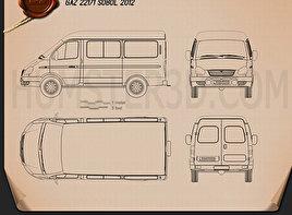 GAZ Sobol (GAZelle) 2012 Blueprint