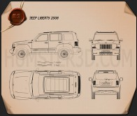 Jeep Liberty (Cherokee) 2008 Blueprint