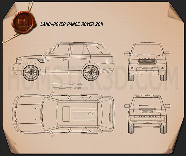 Land Rover Range Rover Sport 2011 Blueprint