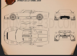 Spyker C12 La Turbie 2006 Blueprint