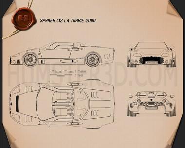 Spyker C12 La Turbie 2006 Blueprint