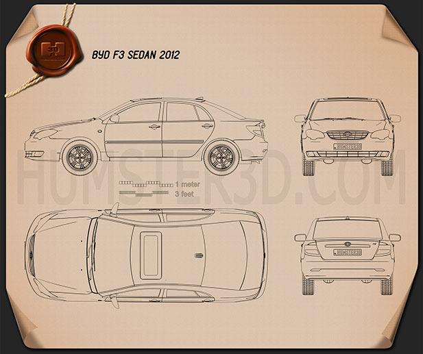 BYD F3 2012 Blueprint