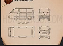 Daewoo Damas 2012 Blueprint