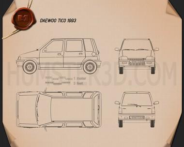 Daewoo Tico 1993 Blueprint
